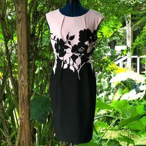 Connected | Pink & Black Floral Sheath Dress